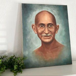 Vintage Wall Art - Gandhi political / spiritual leader art painting